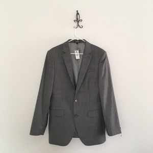Express Producer Wool Blend Suit Jacket Size 38R